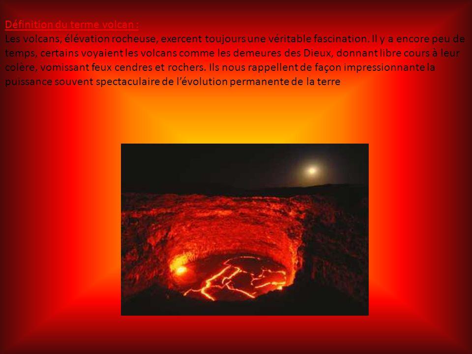 Définition du terme volcan :