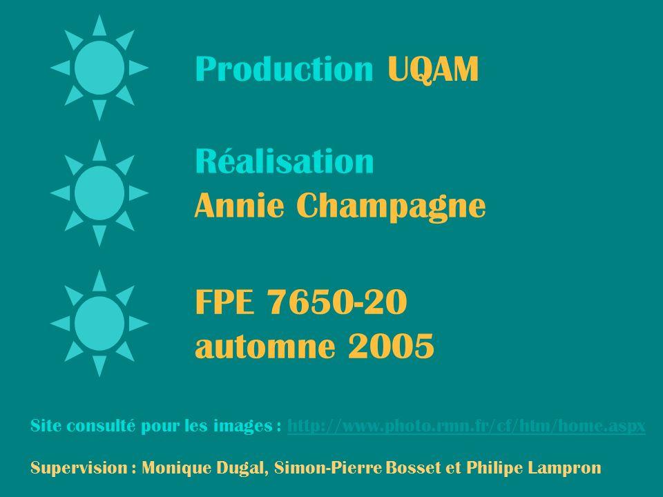 Production UQAM Réalisation Annie Champagne FPE 7650-20 automne 2005