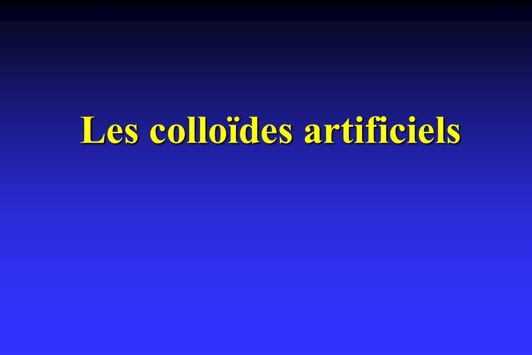 Les colloïdes artificiels