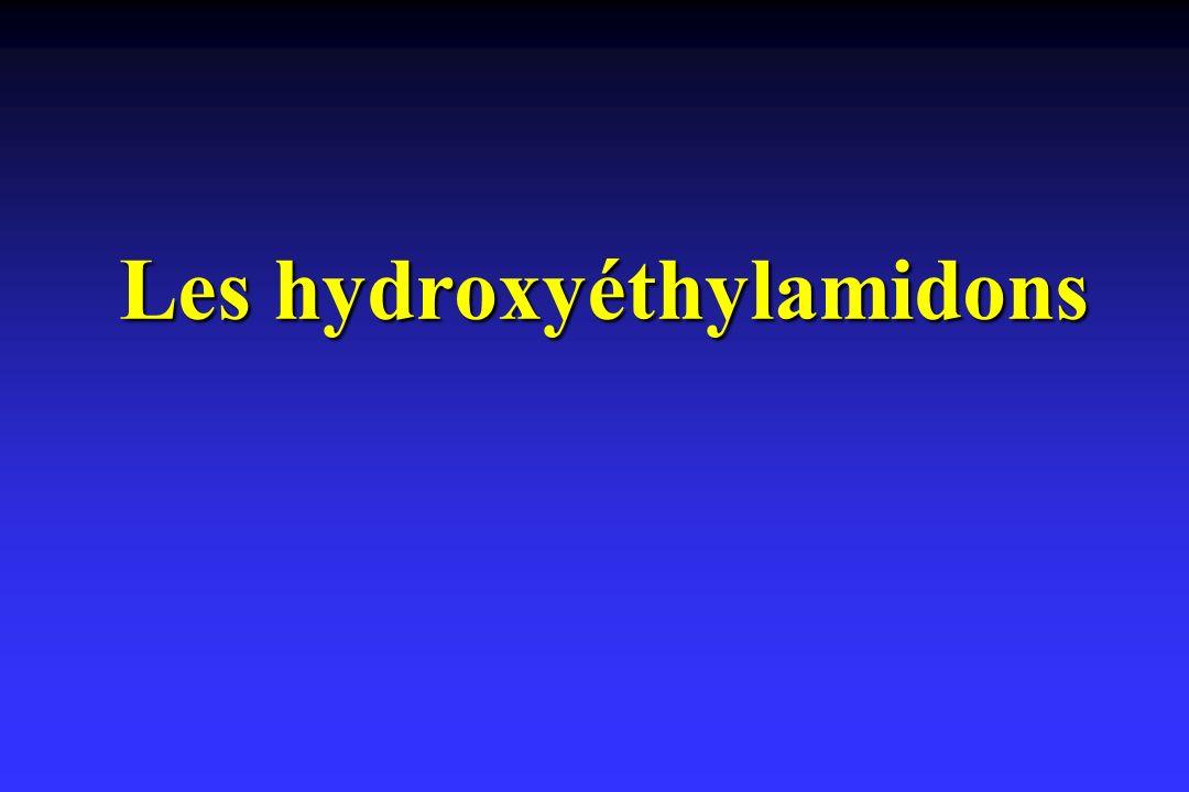 Les hydroxyéthylamidons