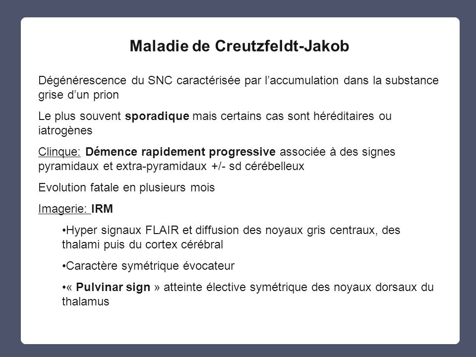 Maladie de Creutzfeldt-Jakob