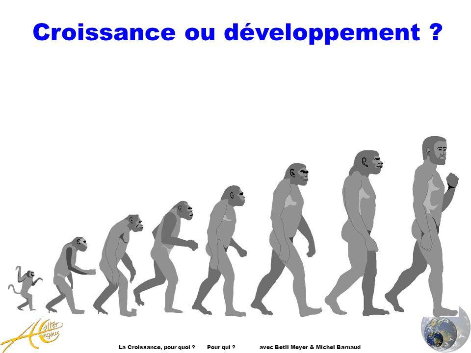 Croissance ou développement