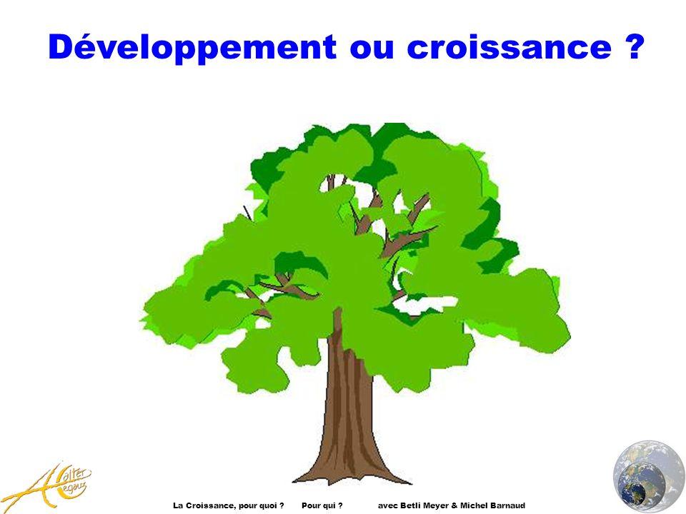 Développement ou croissance