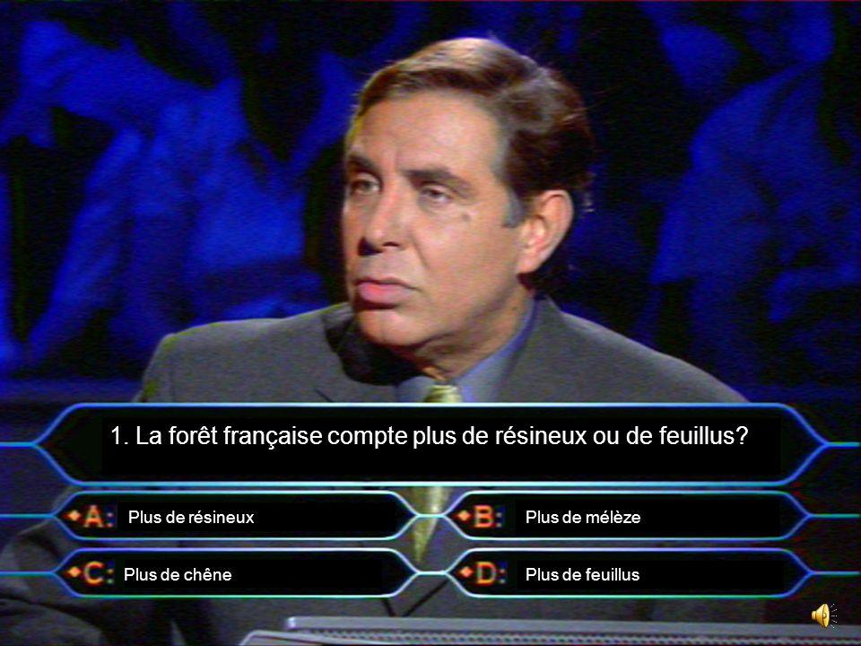 1. La forêt française compte plus de résineux ou de feuillus
