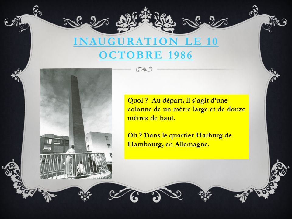 Inauguration le 10 octobre 1986