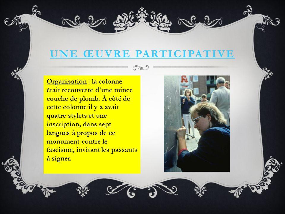 Une œuvre participative