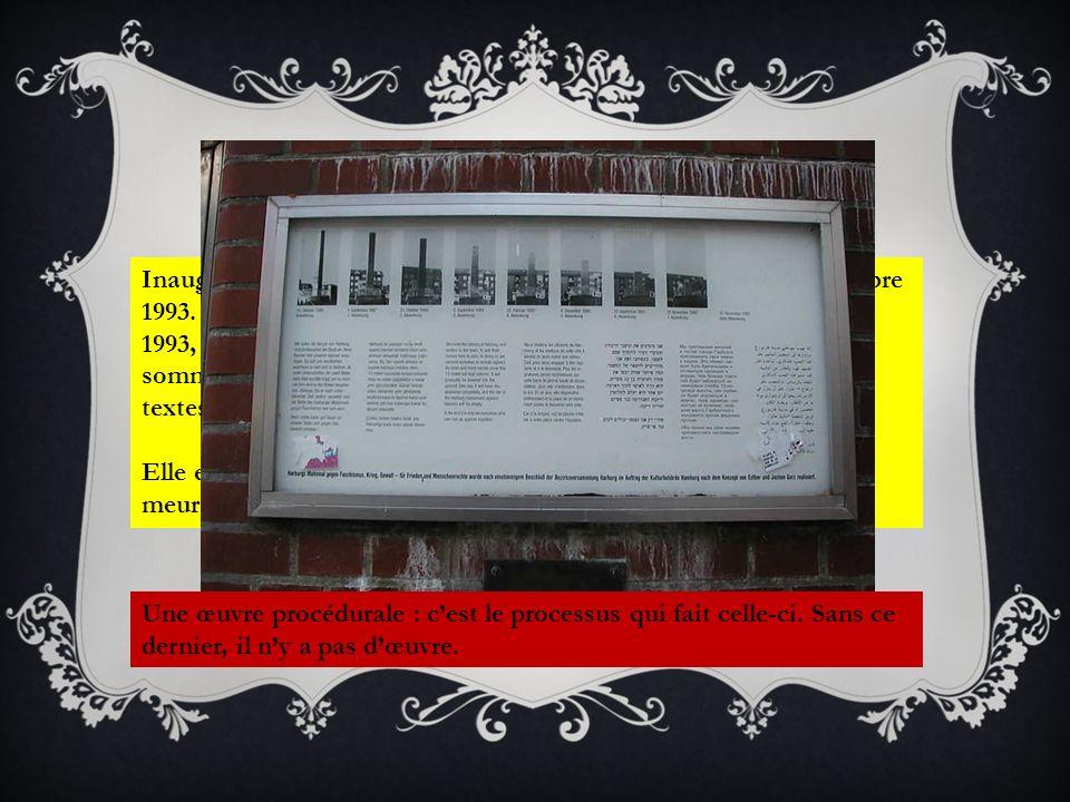 Et aujourd'hui Inauguration le 10 octobre 1986, et disparition totale le 10 novembre 1993. Cet enfouissement s'est déroulé en sept phases et, depuis.