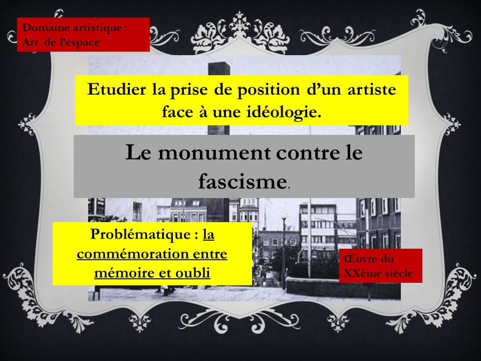 Le monument contre le fascisme.