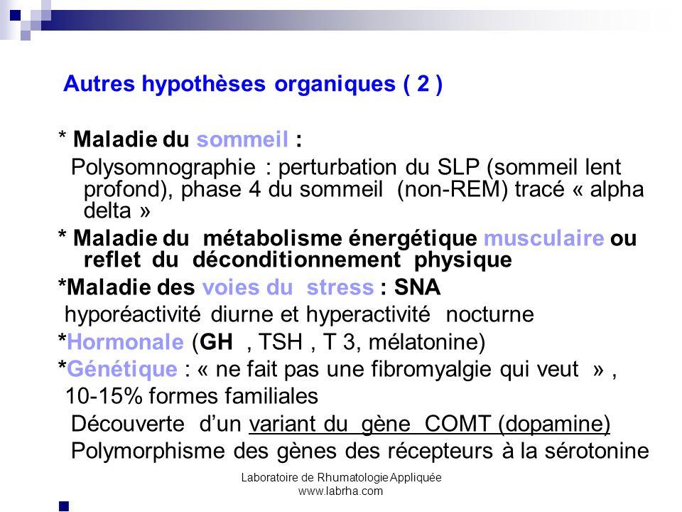 Autres hypothèses organiques ( 2 )