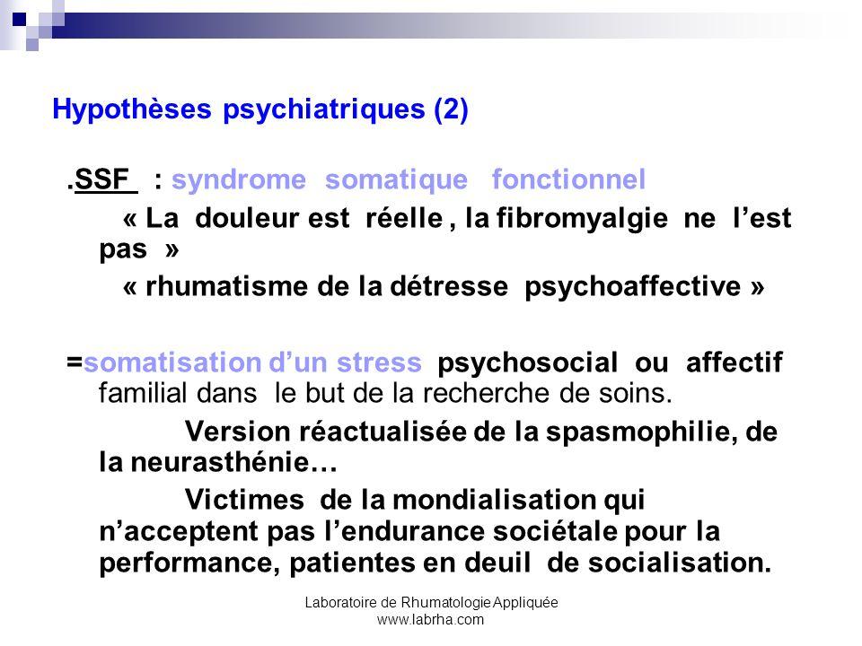 Hypothèses psychiatriques (2)