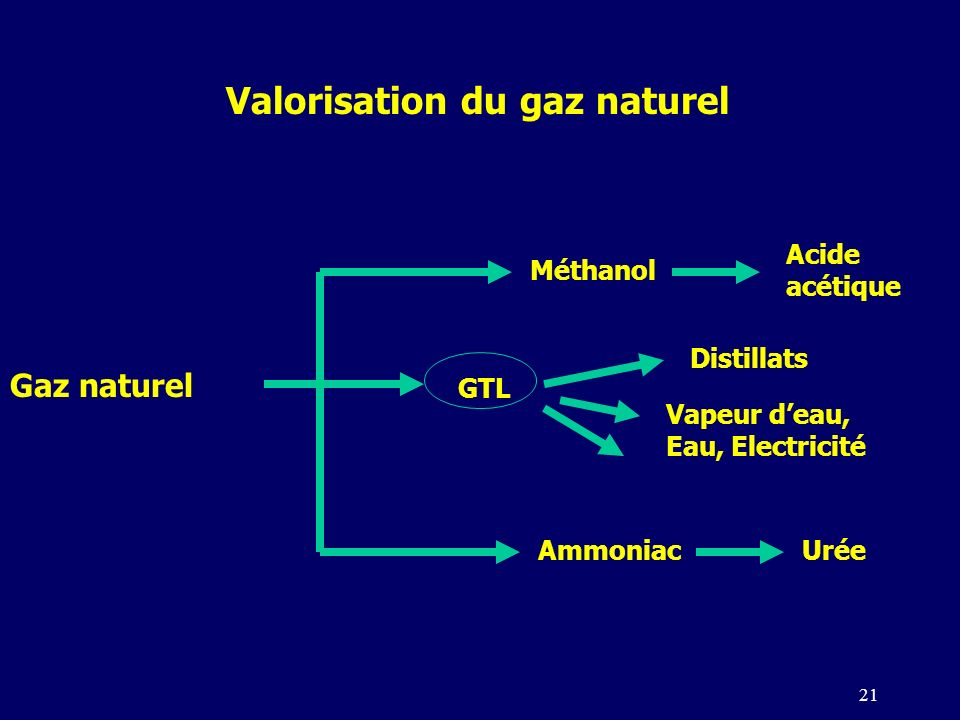 Valorisation du gaz naturel