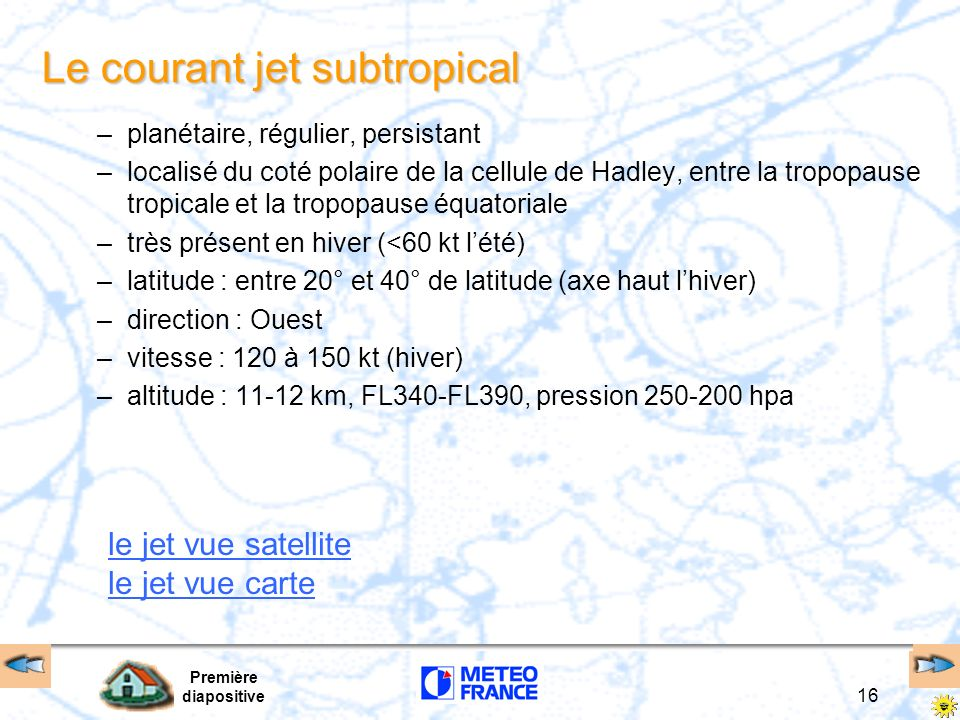 Le courant jet subtropical