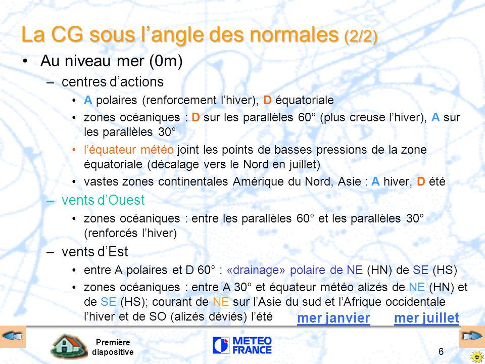 La CG sous l'angle des normales (2/2)