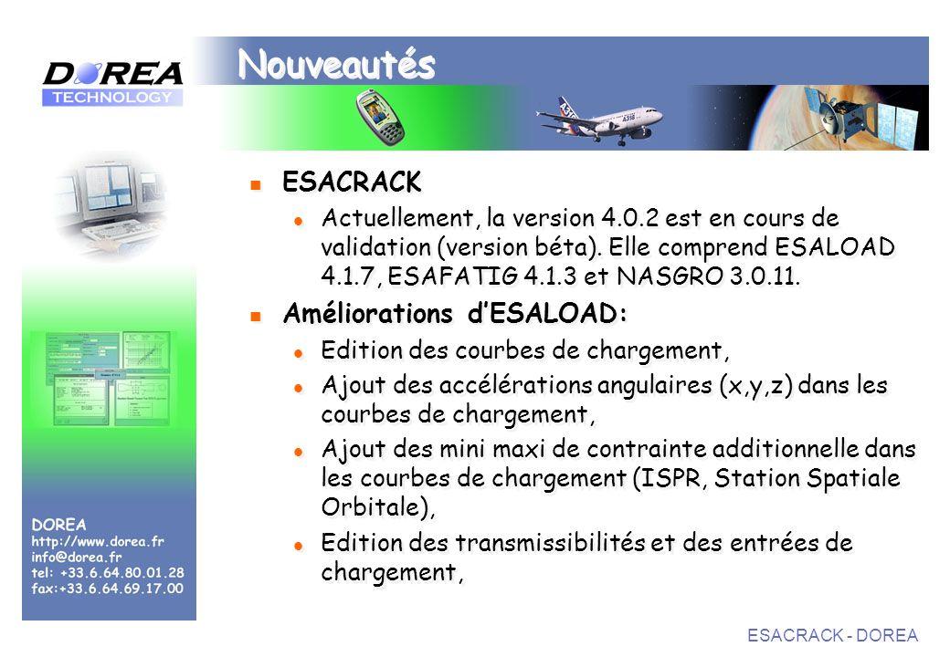 Nouveautés ESACRACK Améliorations d'ESALOAD: