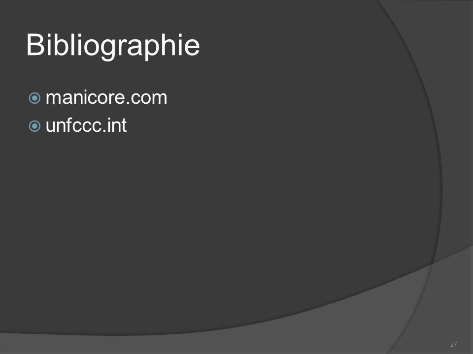 Bibliographie manicore.com unfccc.int 27