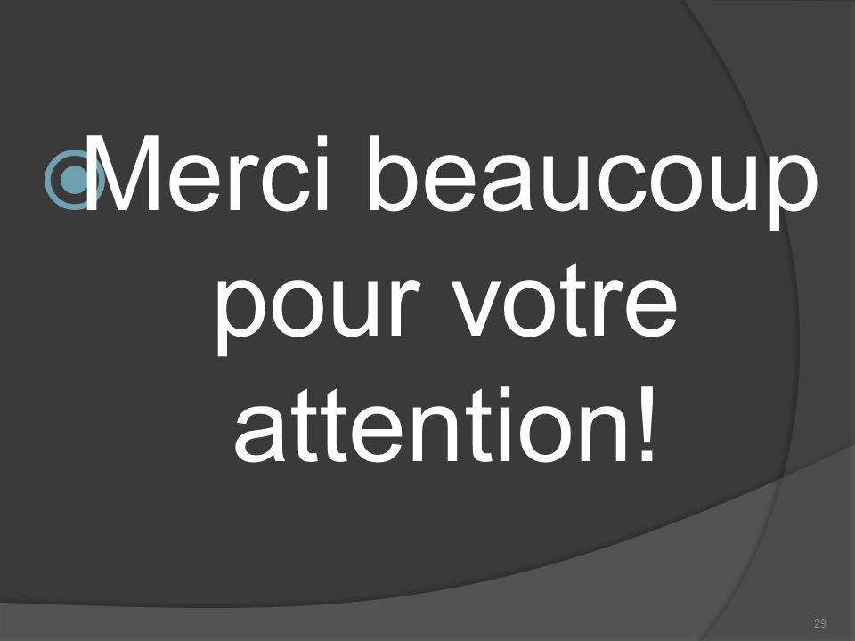 Merci beaucoup pour votre attention!