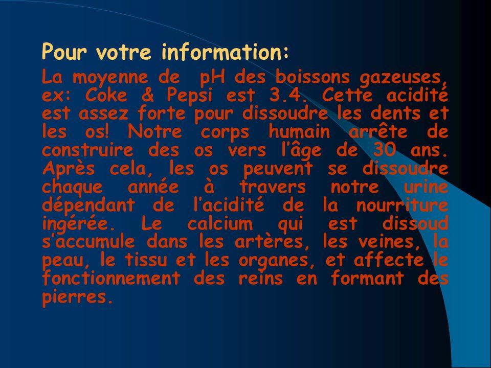 Pour votre information: