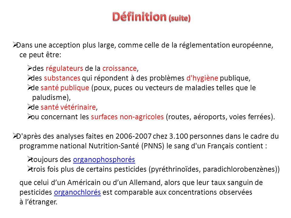 Définition (suite) Dans une acception plus large, comme celle de la réglementation européenne, ce peut être: