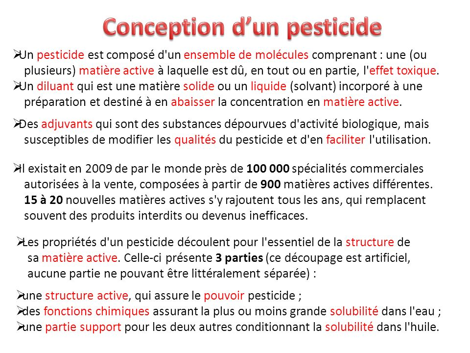 Conception d'un pesticide