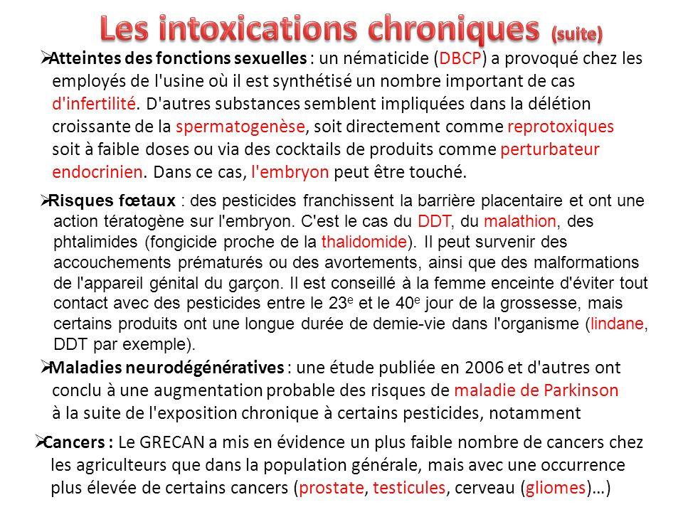 Les intoxications chroniques (suite)