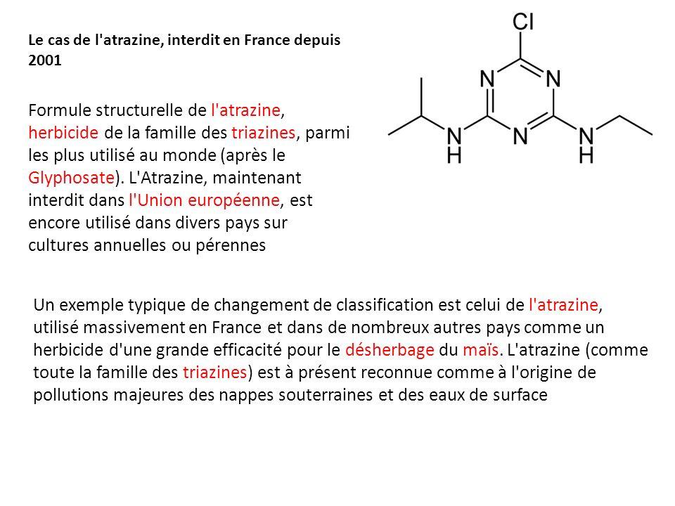 Le cas de l atrazine, interdit en France depuis 2001