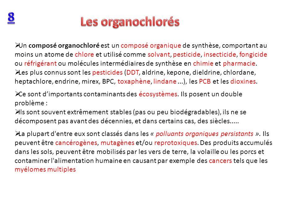 8 Les organochlorés.