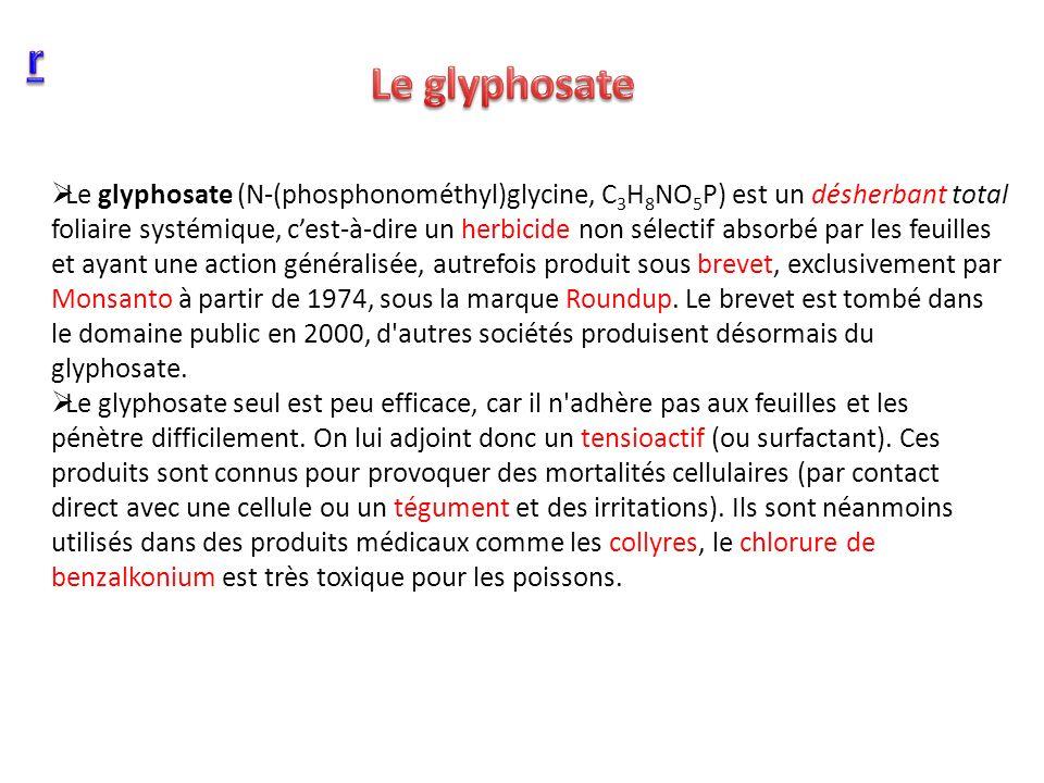 r Le glyphosate.