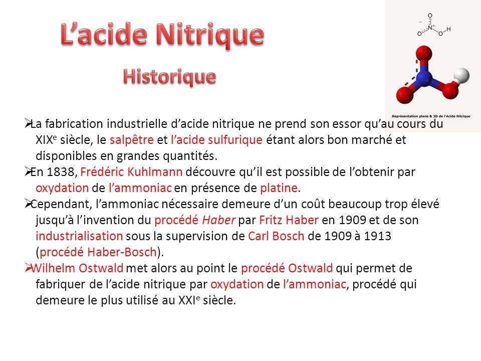 L'acide Nitrique Historique