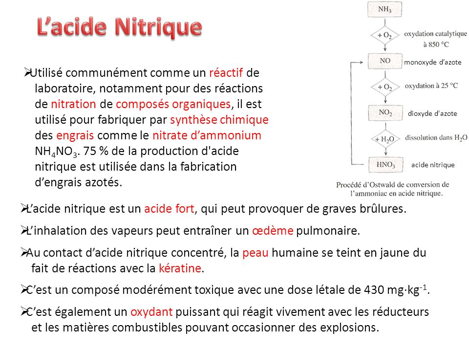L'acide Nitrique monoxyde d'azote.
