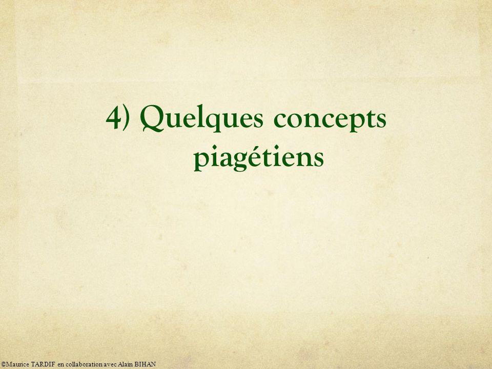 4) Quelques concepts piagétiens
