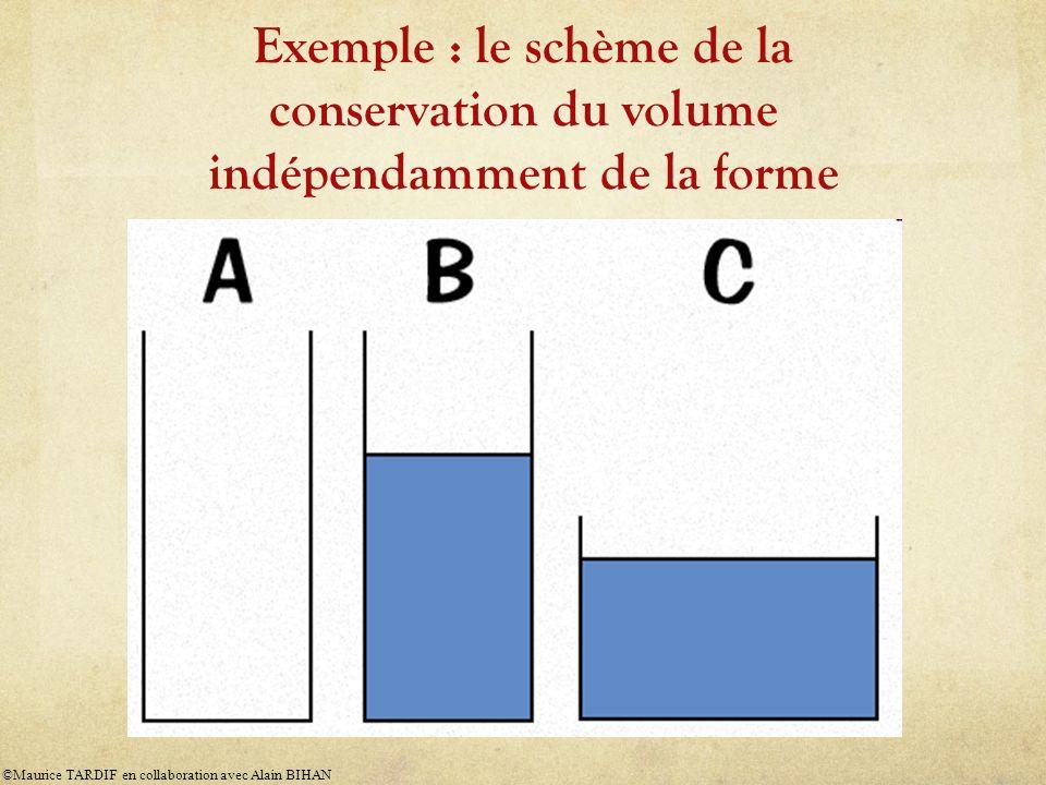 Exemple : le schème de la conservation du volume indépendamment de la forme
