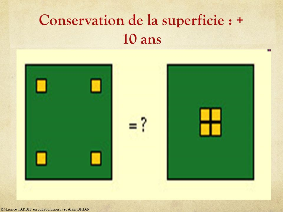 Conservation de la superficie : + 10 ans