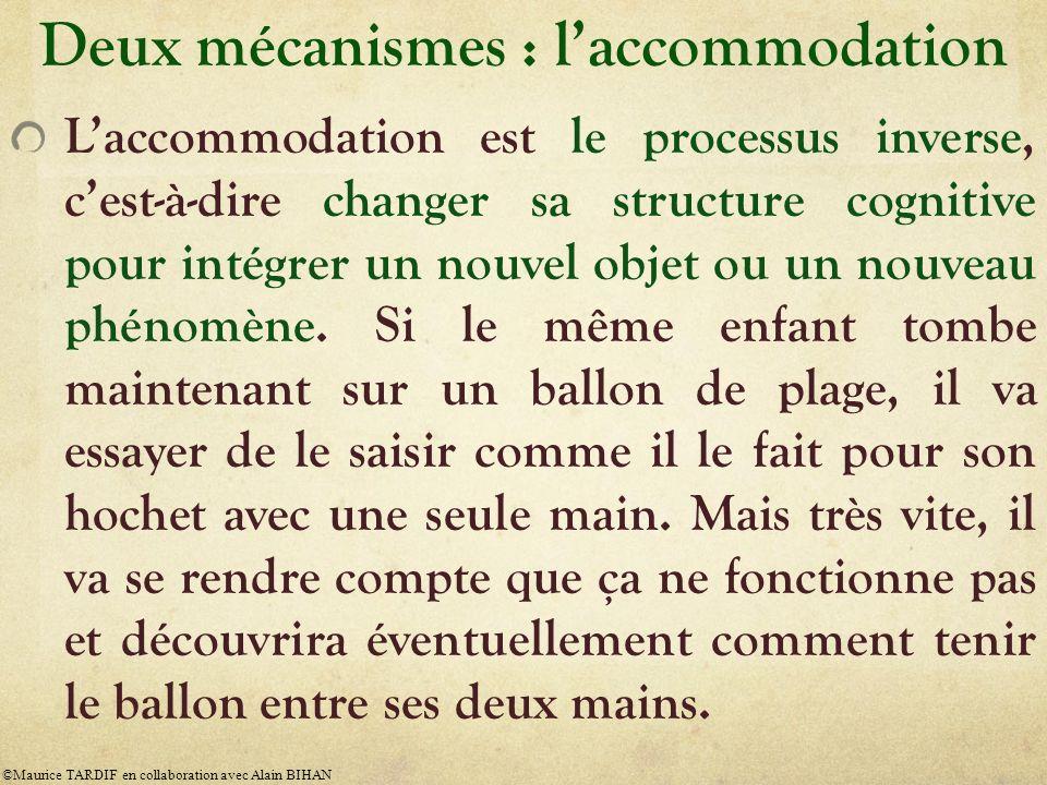 Deux mécanismes : l'accommodation