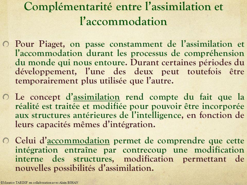 Complémentarité entre l'assimilation et l'accommodation