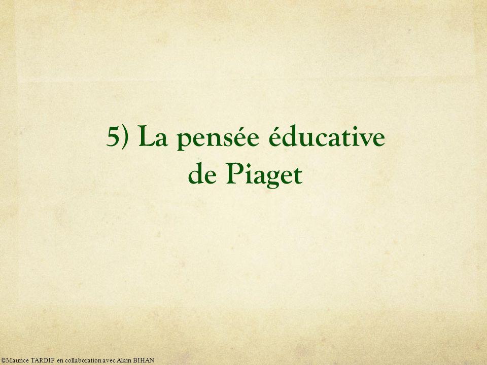 5) La pensée éducative de Piaget