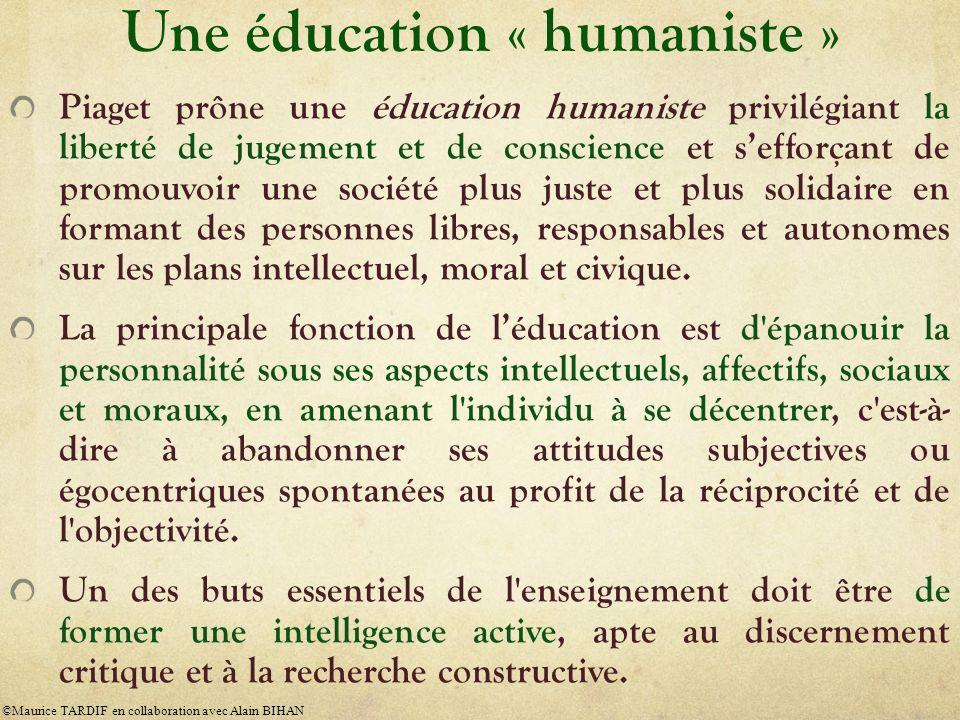 Une éducation « humaniste »