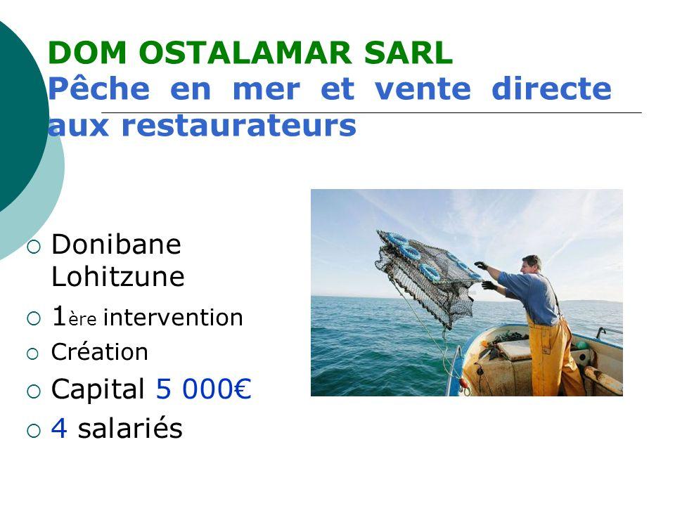 Pêche en mer et vente directe aux restaurateurs
