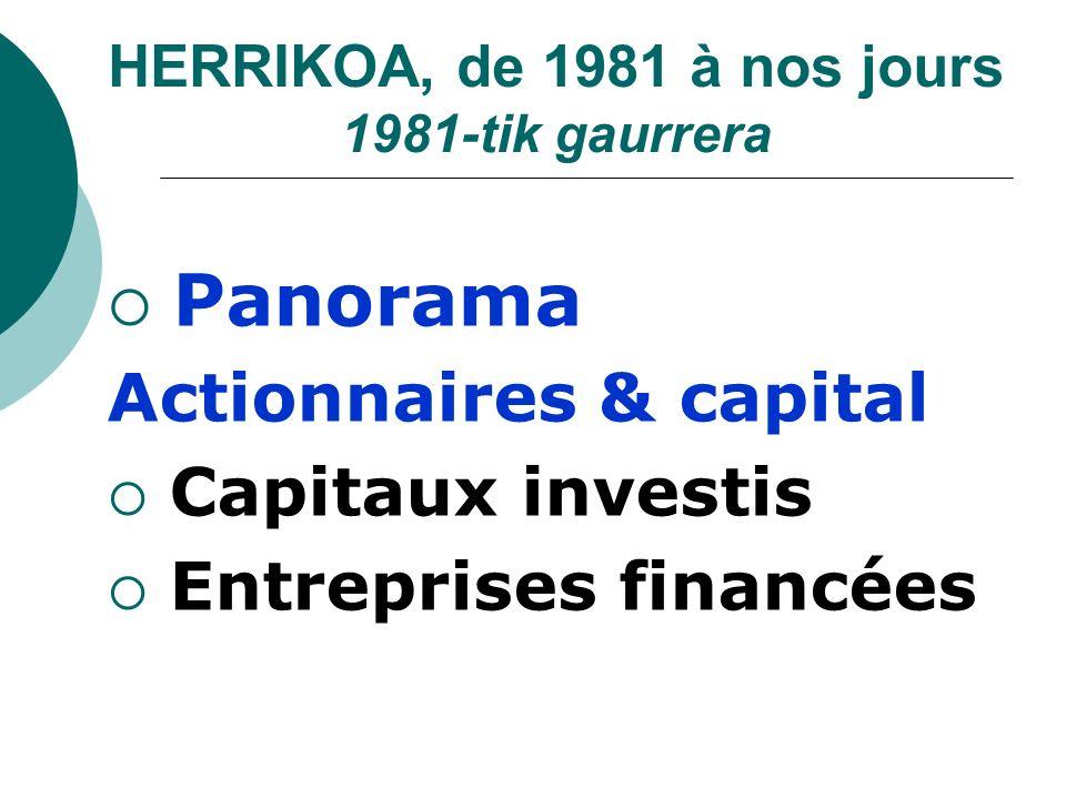 HERRIKOA, de 1981 à nos jours 1981-tik gaurrera