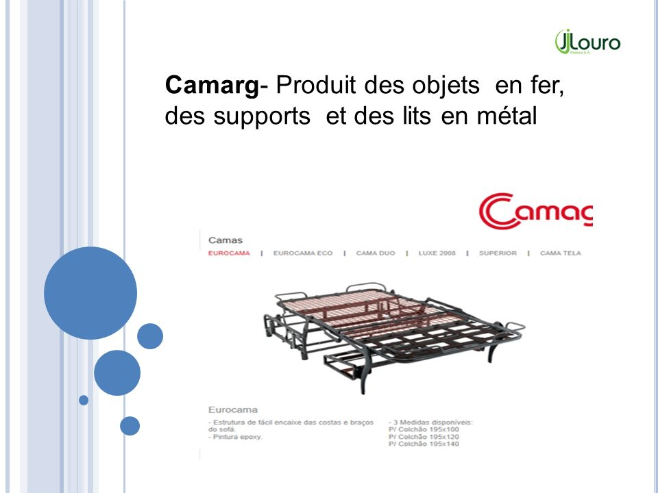 Camarg- Produit des objets en fer, des supports et des lits en métal