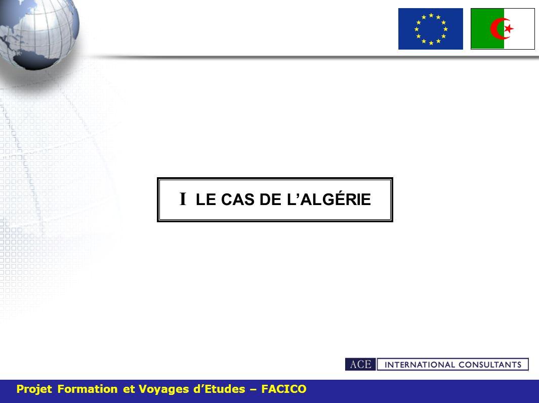 I LE CAS DE L'ALGÉRIE Projet Formation et Voyages d'Etudes – FACICO 21