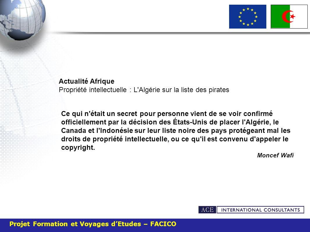 Actualité Afrique Propriété intellectuelle : L Algérie sur la liste des pirates