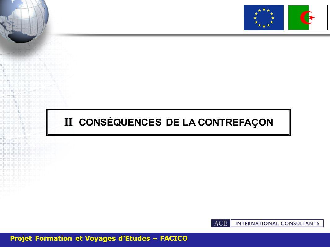 II CONSÉQUENCES DE LA CONTREFAÇON