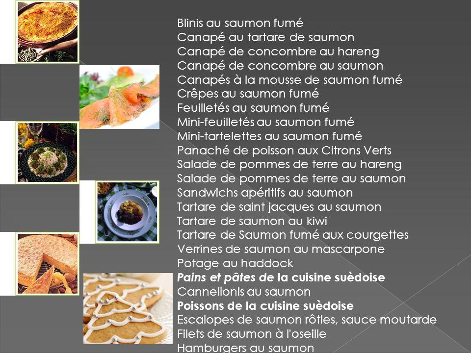 Blinis au saumon fumé Canapé au tartare de saumon. Canapé de concombre au hareng. Canapé de concombre au saumon.