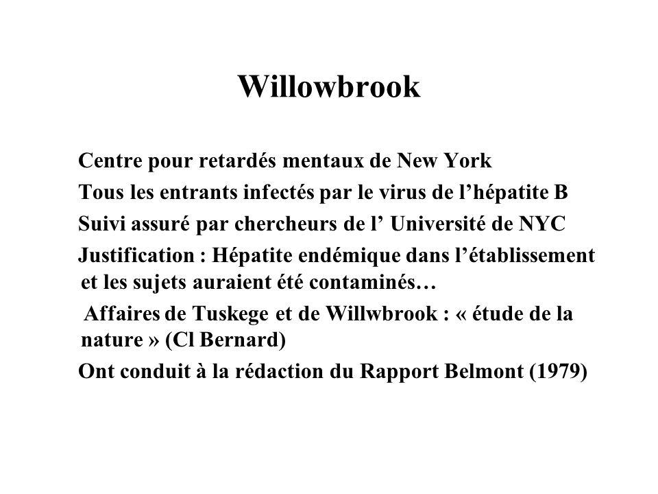Willowbrook Centre pour retardés mentaux de New York