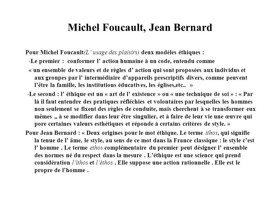 Michel Foucault, Jean Bernard