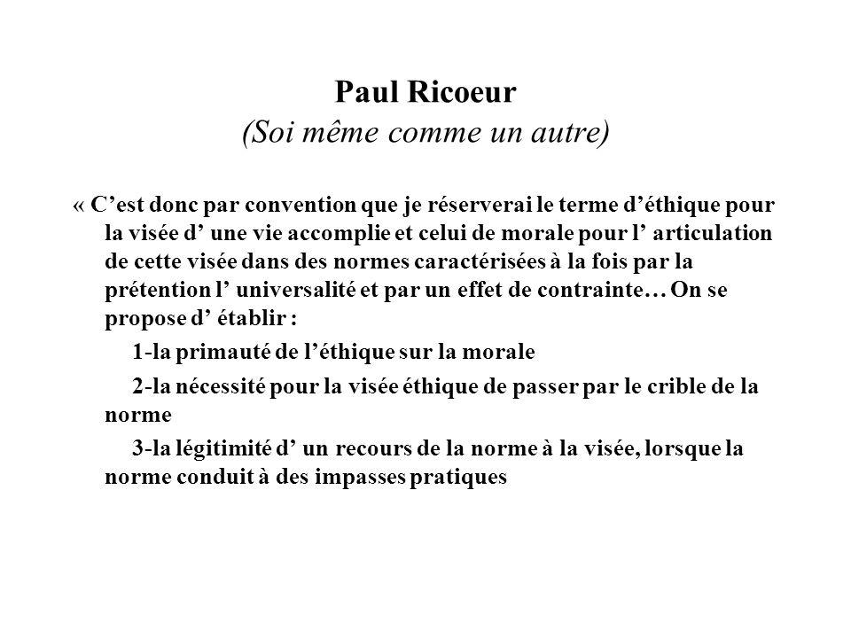 Paul Ricoeur (Soi même comme un autre)