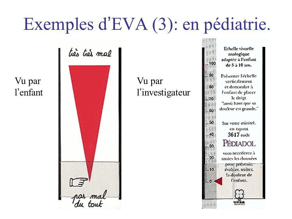Exemples d'EVA (3): en pédiatrie.