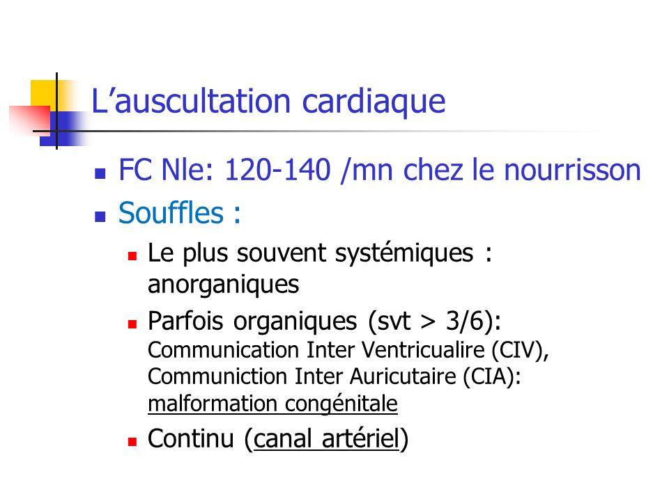 L'auscultation cardiaque