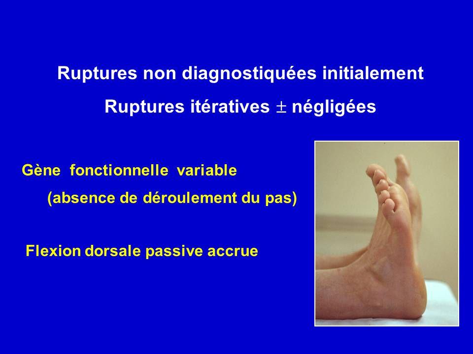 Ruptures non diagnostiquées initialement
