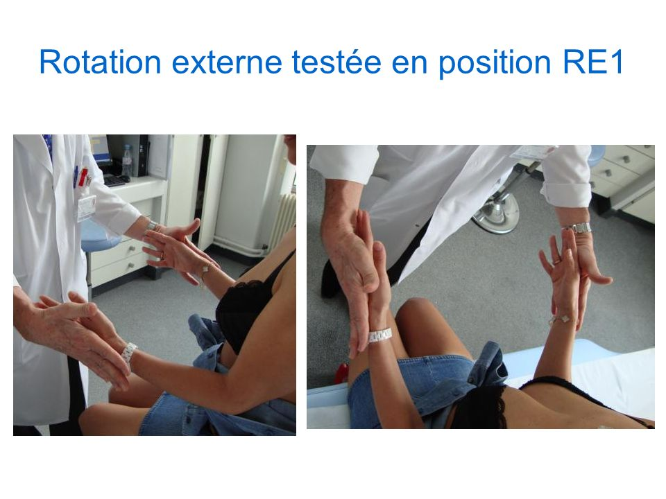 Rotation externe testée en position RE1